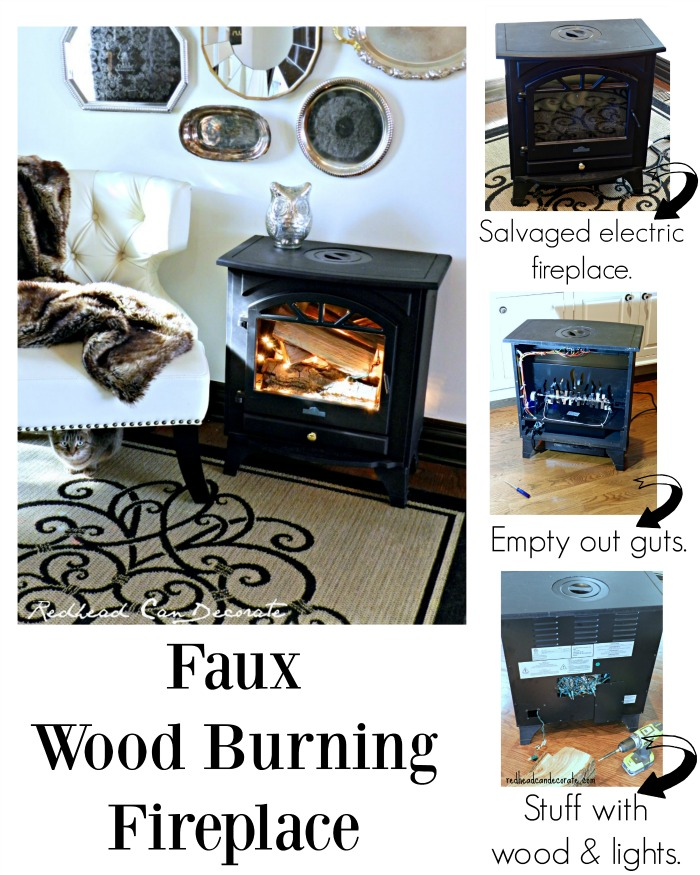 Faux Wood Burning Fireplace Tutorial