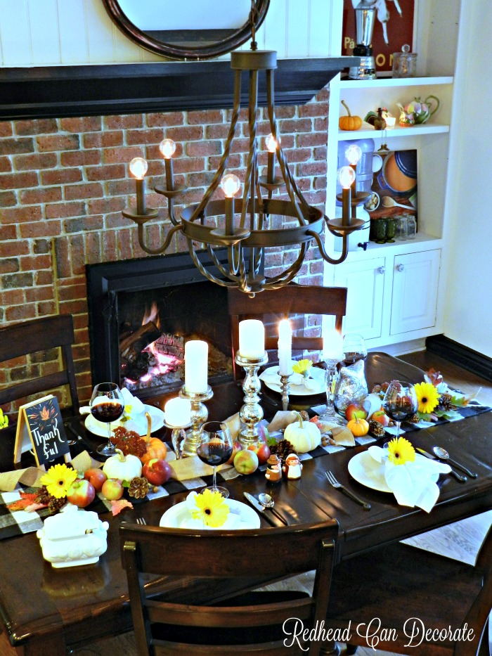 Thanksgiving Table Ideas (those plates are from the dollar store!)
