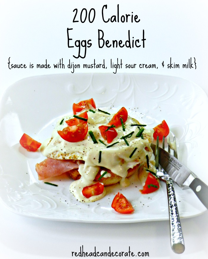 200 Calorie Eggs Benedict