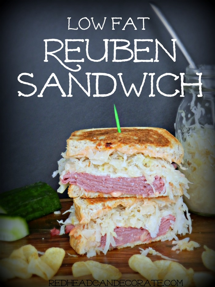 This article includes a Vegetarian Reuben Sandwich that looks looks so tasty! It's made with avocado, sauerkraut, Swiss cheese, and homemade thousand island dressing!