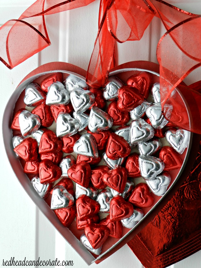 Chocolate Heart Wreath