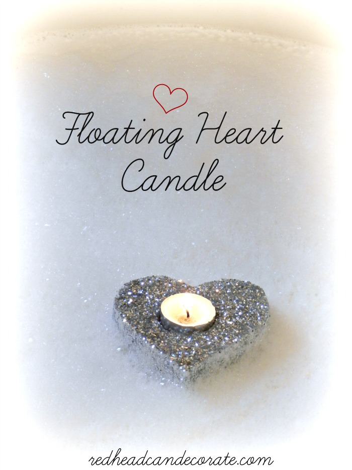 Floating Heart Candle