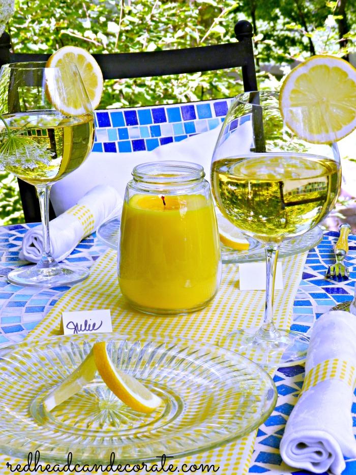 Lemon Tablescape
