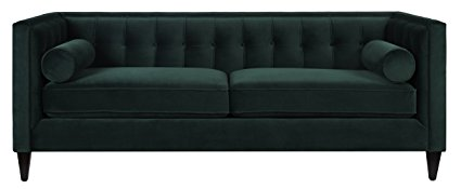 This green velvet sofa is gorgeous! There are more colors, too!