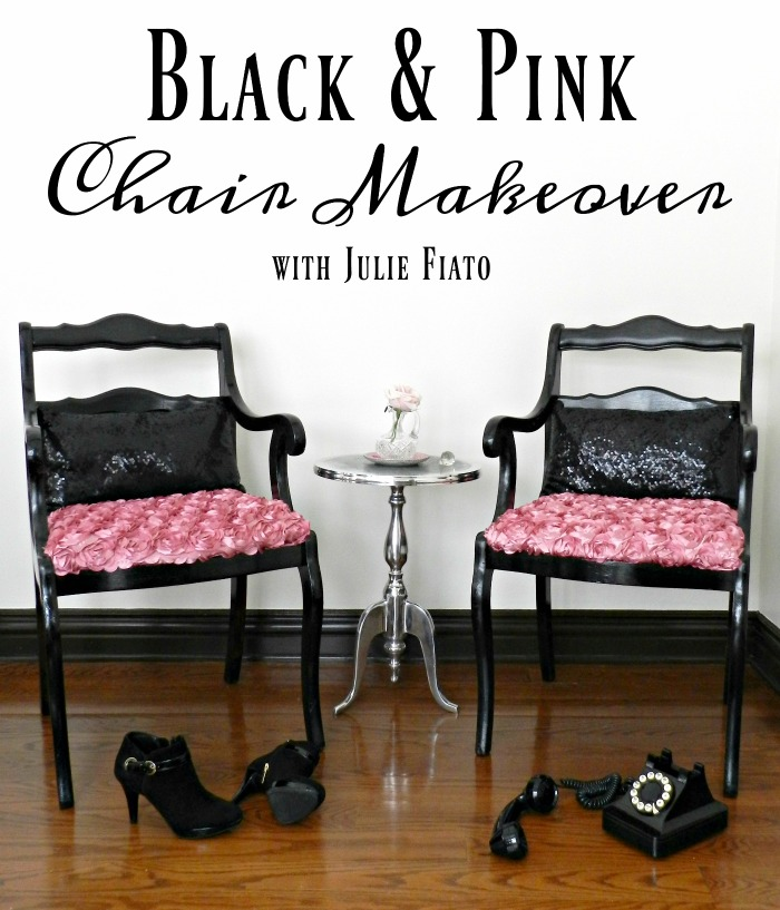 Gorgeous Black U0026 Pink Chair Makeover.