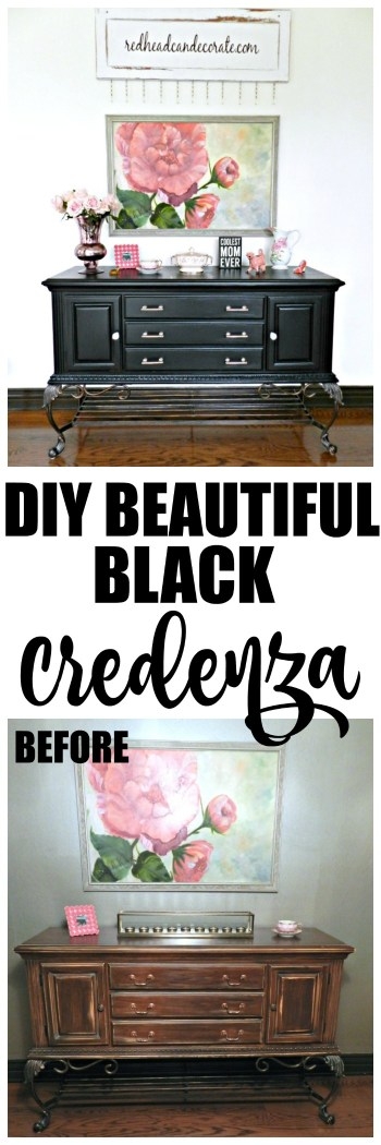 Wow! I need to try this black paint on our credenza!