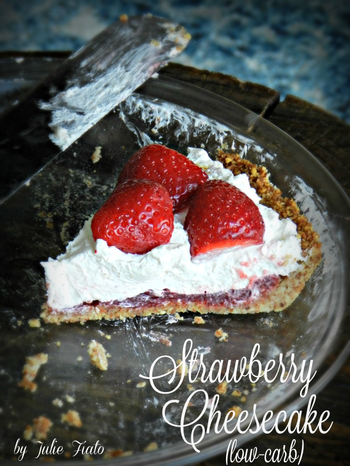 Low-Carb Strawberry Cheesecake