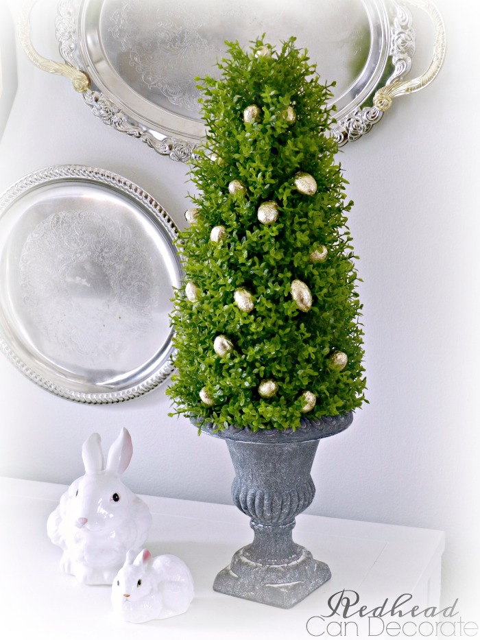 Easter Egg Boxwood Topiary Redhead Can Decorate