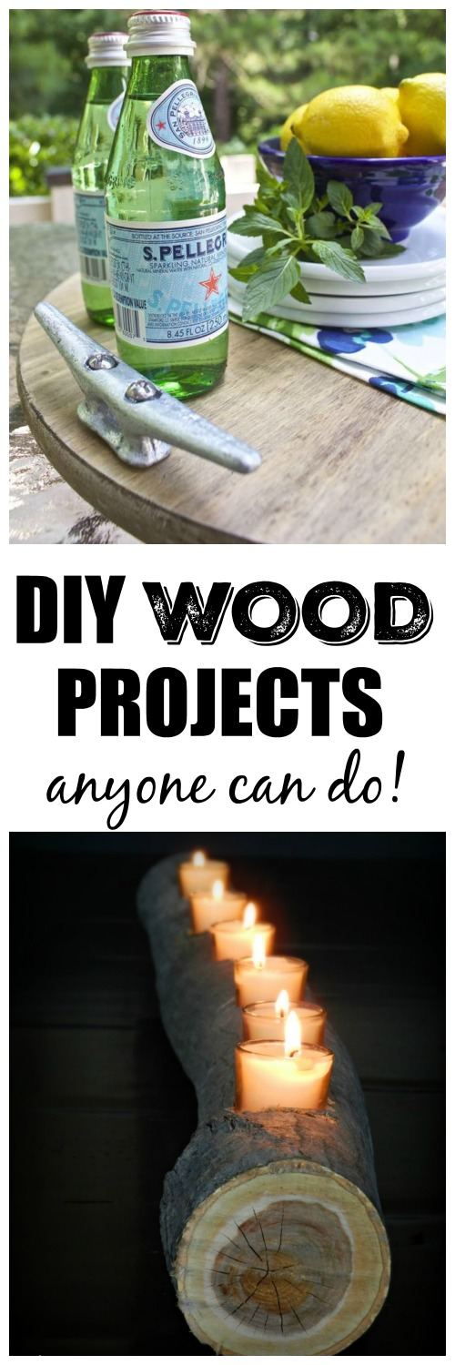 Wood projects with the DIY Housewives...this candle log is so amazing!