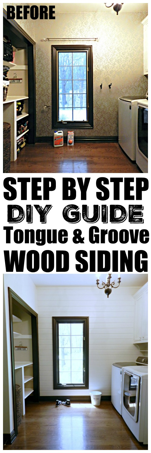 this laundry room makeover is a must see she included a diy wood tongue