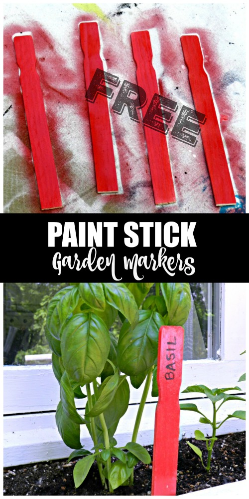 These free paint stick garden markers are so adorable and can be made in minutes!