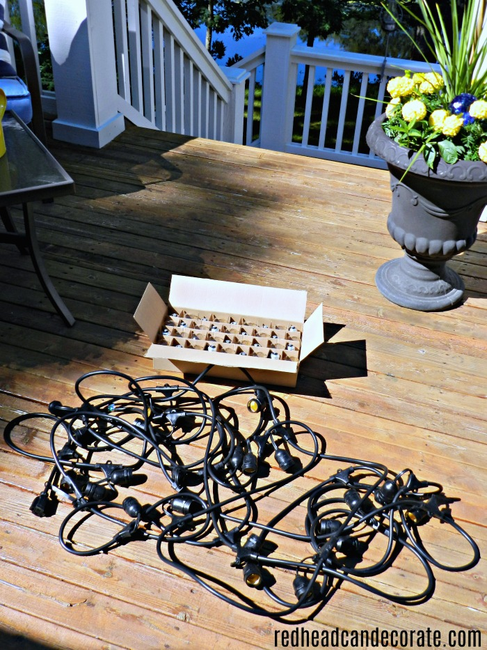 Vintage style outdoor string lights giveaway redhead can decorate hang vintage style string lights on your deck porch or patio and enter to aloadofball Choice Image