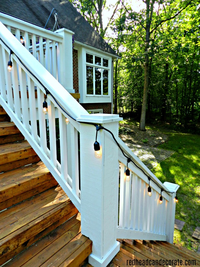 Vintage style outdoor string lights giveaway redhead can decorate hang vintage style string lights on your deck porch or patio and enter to aloadofball