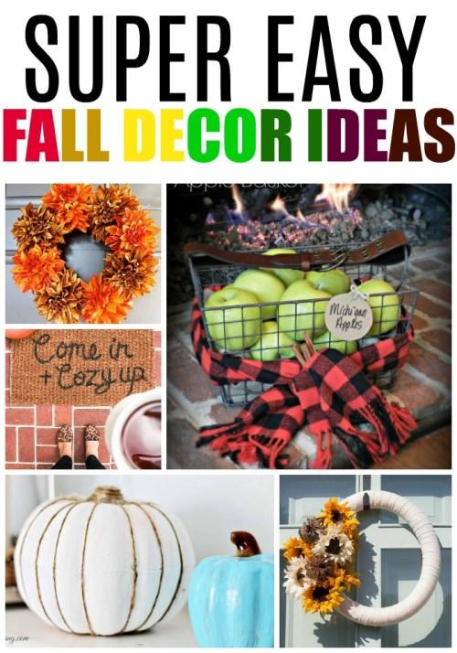 Super Easy Fall Decor Ideas