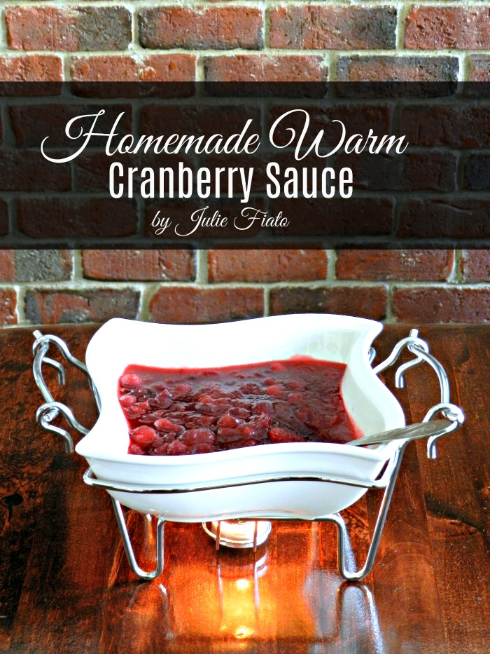 Doesn't Homemade Warm Cranberry Sauce sound so much better than that cold jellied stuff from a can? This recipe for cranberry sauce has a secret ingredient, too!
