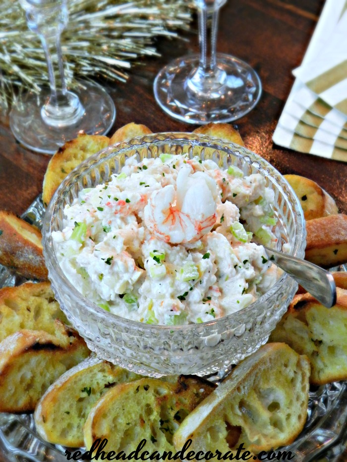 Lobster Salad Appetizer Toasts are the perfect appetizer for any occasion, especially New Year's Eve. You can substitute the lobster for crab, tuna, or chicken!