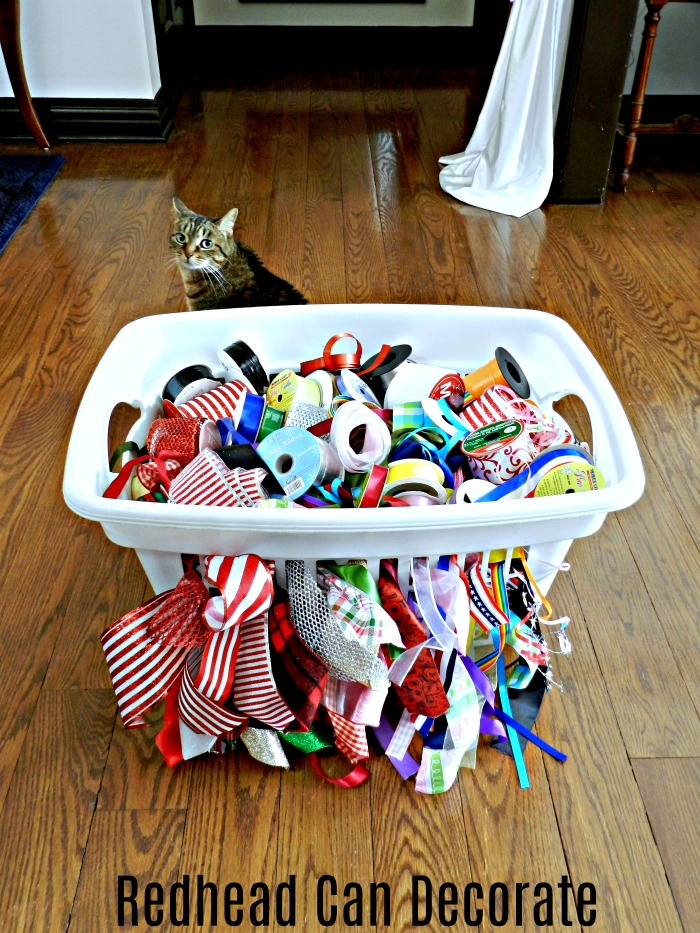 3 Clever Household Storage Clean-up Tips including how to store all that ribbon!
