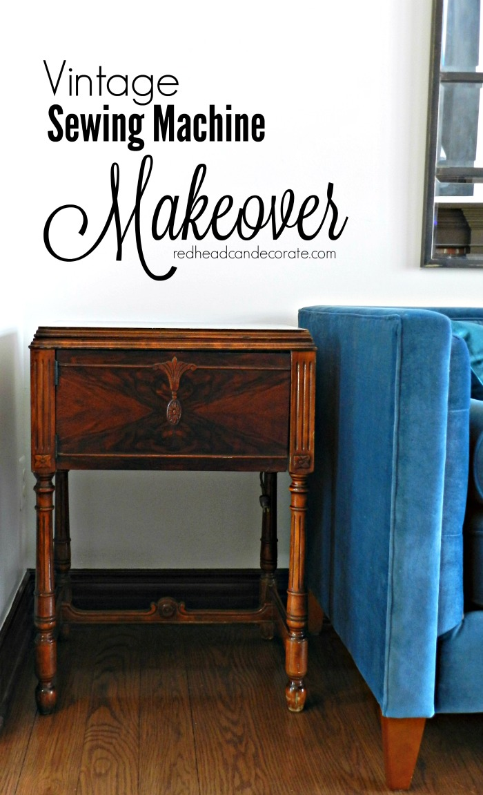 Vintage Sewing Machine Table Makeover without Refinishing/Painting ...