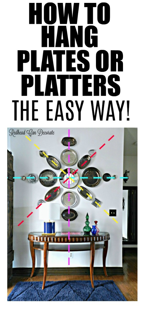 This blogger explains how she easily hung a silver platter wall and what product she used.