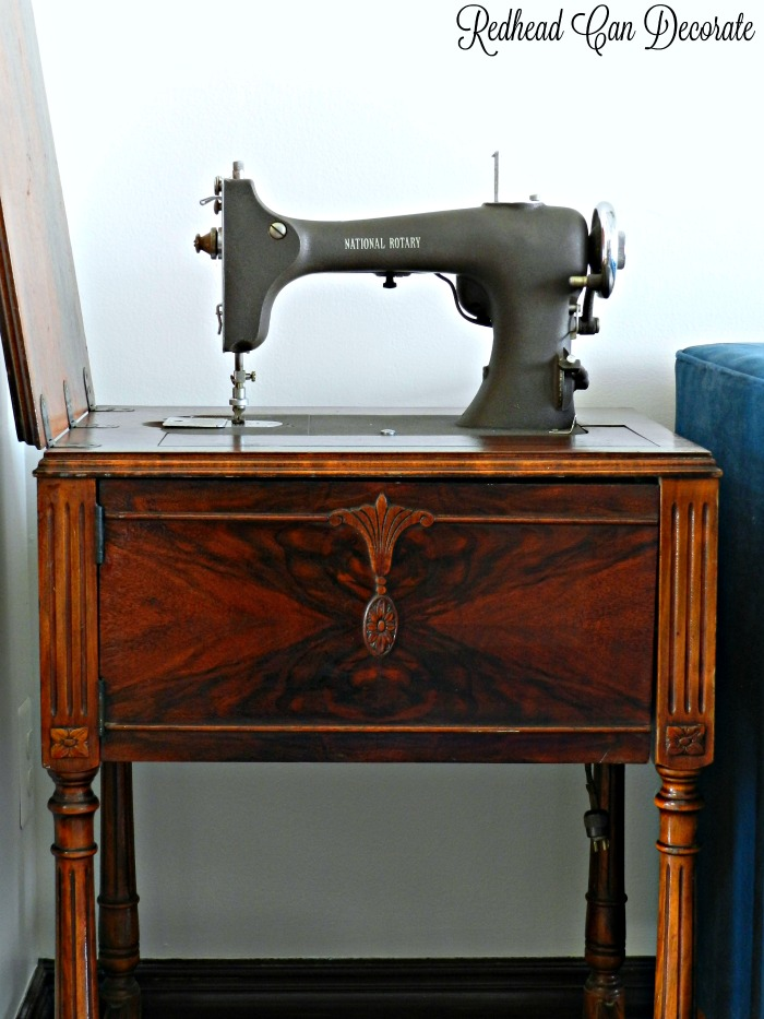 Check Out This Vintage Sewing Machine Table Makeover Without  Refinishing/Painting! She Used 3