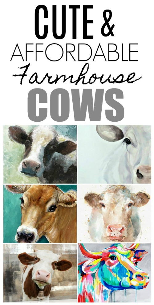 Cow canvases are the cutest way to add some farmhouse to your home. There's also a free Cow Canvas Giveaway!