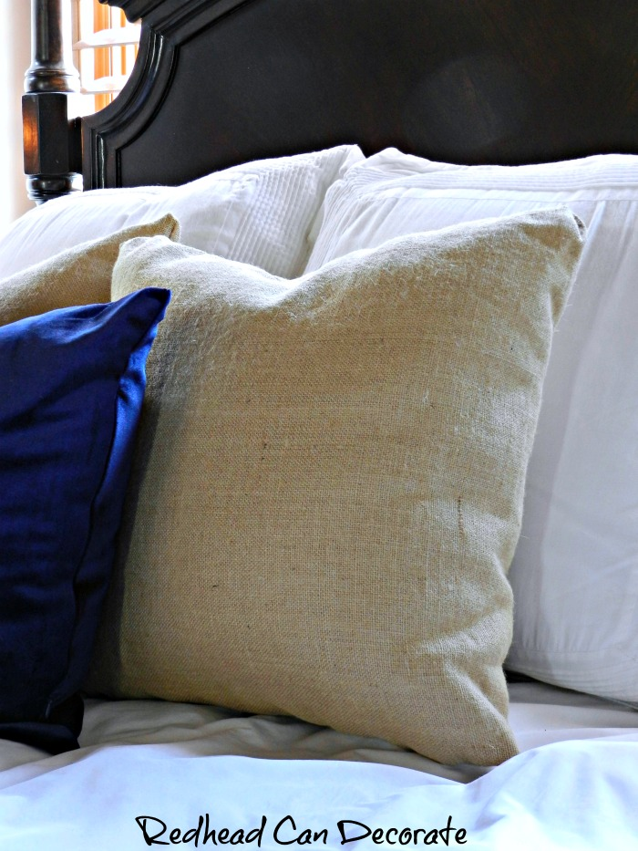 """""""If you're searching for a high quality burlap pillow then search no more! Check out """"Burlap Pillows & Giveaway"""" from BurlapFabric.com."""