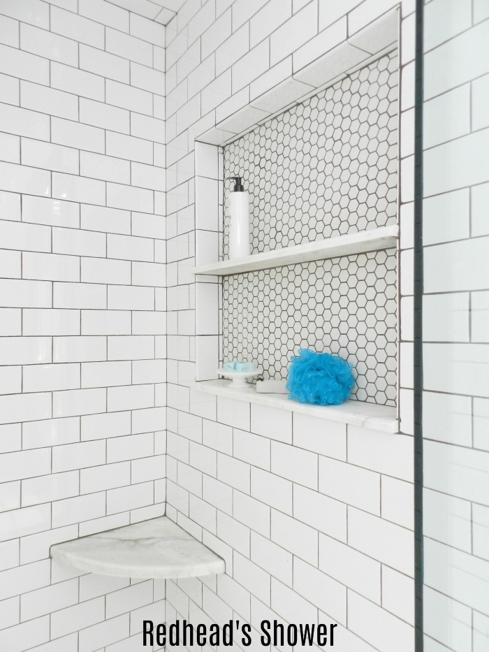 A Michigan couple transformed their bathroom with this beautiful Master Bathroom Renovation Shower Reveal!