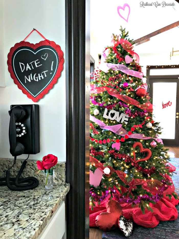 This blogger decorated for Valentine's Day using all dollar store supplies and it's absolutely stunning! See the Valentine's Day Romantic Table for Two here!