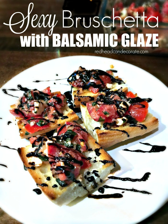 Sexy Bruschetta with Balsamic Glaze