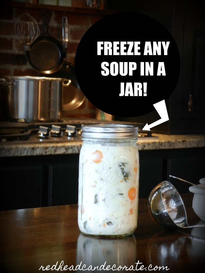 Yes you can freeze soup in a mason jar and it's so much easier than canning it!