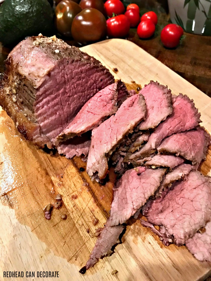 This Perfect Roast Beef Recipe is the easiest way I have found to cook roast beef so it's not over done, or under done.  It would also make a perfect alternative to turkey on Thanksgiving.