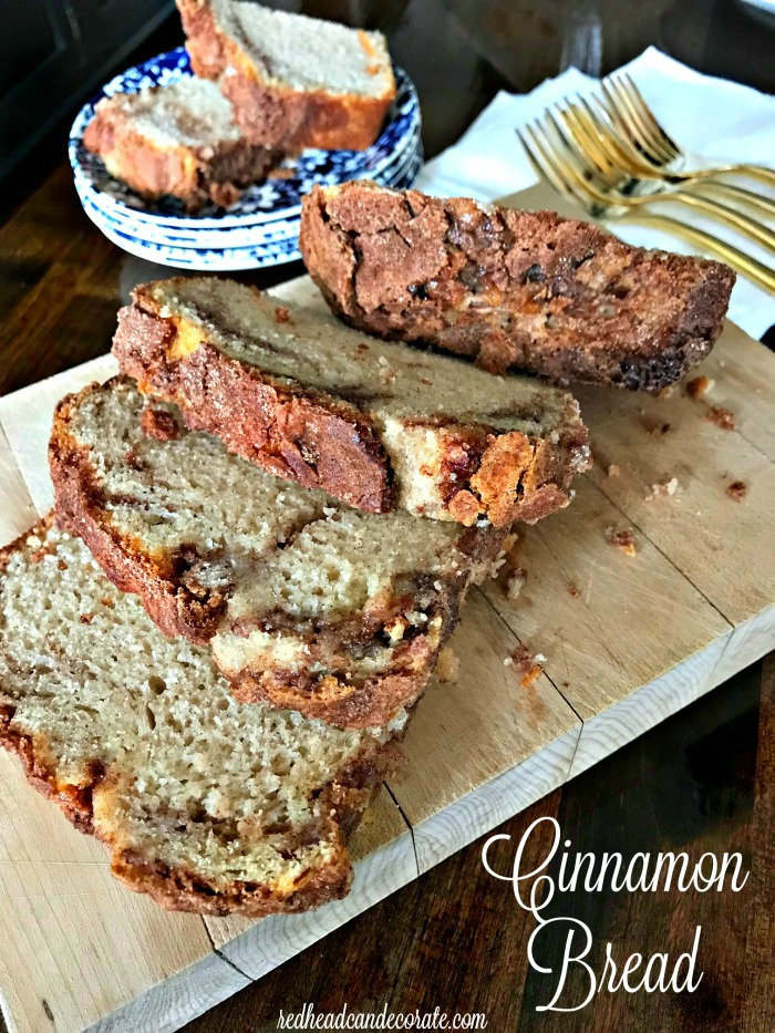Simple ingredients make this yummy Cinnamon Bread Recipe a family favorite for breakfast, a snack, or even for dessert.