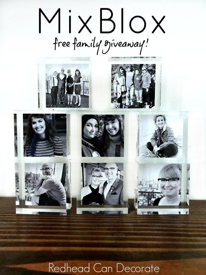 This MixBlox & Custom Face Mask Family Giveaway involves a new modern way to display your photos!