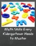 Math Skills For Every Kindergartener To Master