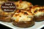 Quick And Tasty Cream Cheese Stuffed Mushrooms #Recipe