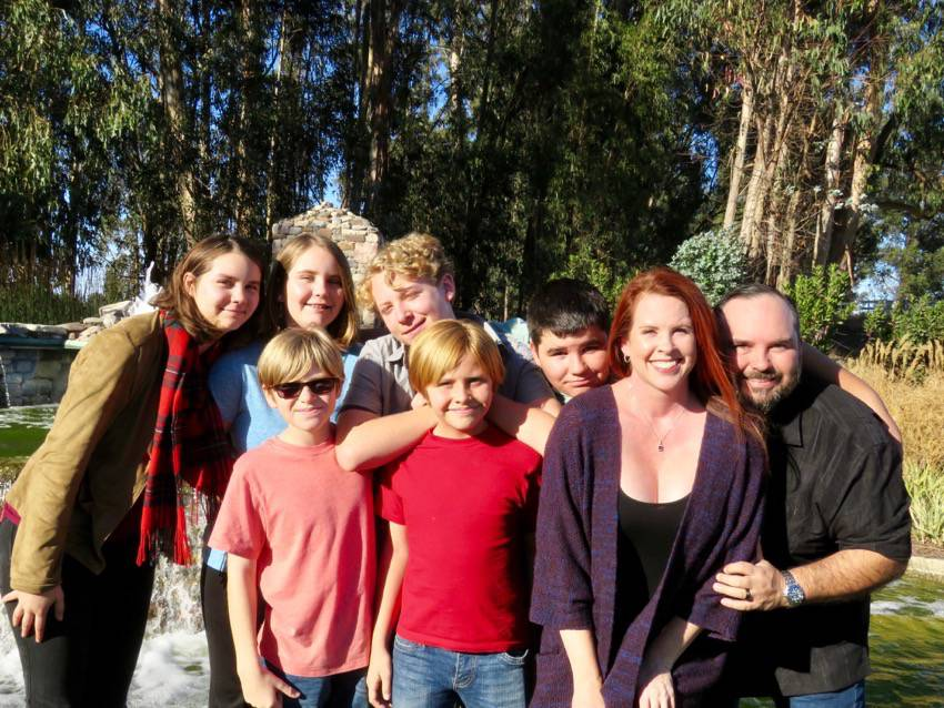 Our big family #blended #family #blogger #wahm