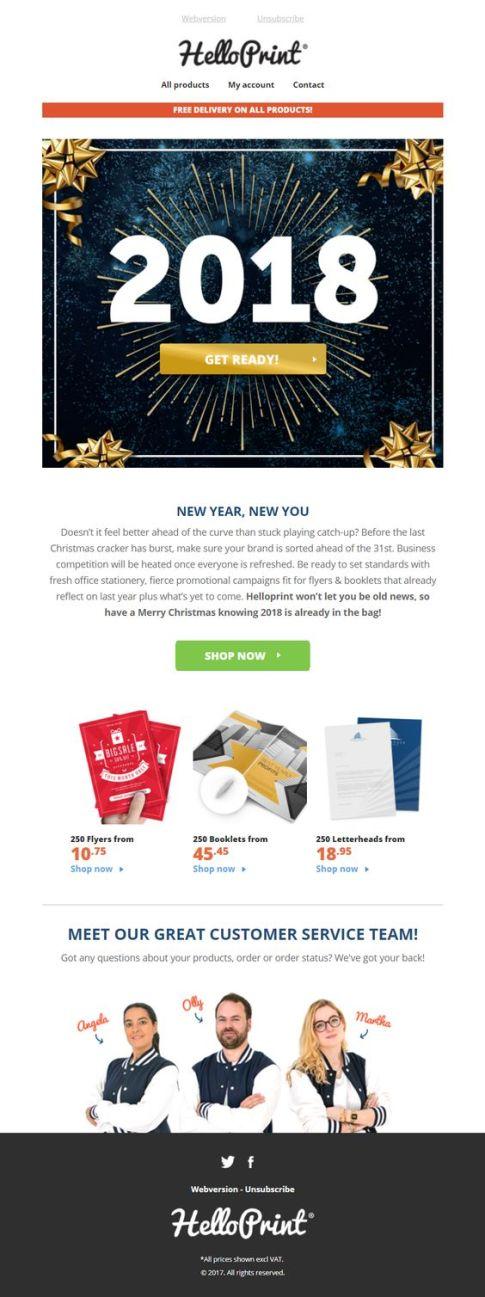 Hello Print New Year #Emma #NewYear #email #Marketing #ad