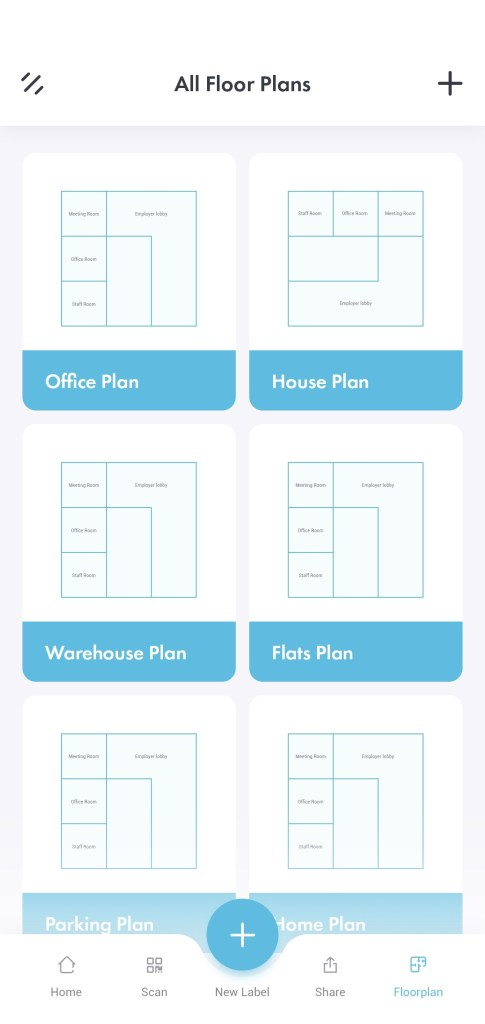 Floor plan for app