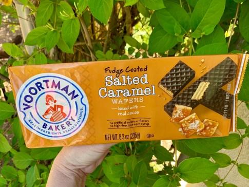 Voortman Bakery Fudge Coated Salted Caramel Wafers in package
