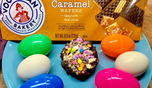 Celebrate Easter with an Easy Salted Caramel Brownie Recipe