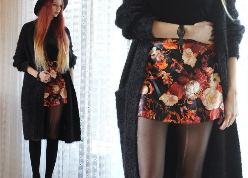 redheadventurer-outfit-floral skirt-autumn-spring