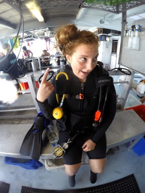 Crazy post dive hair o.O Photo credit: Hanna