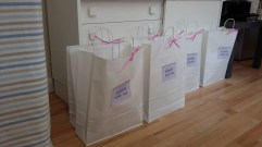 The bloggers' goody bags!