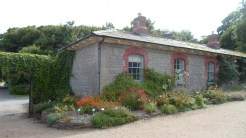 At the entrance to the walled garden
