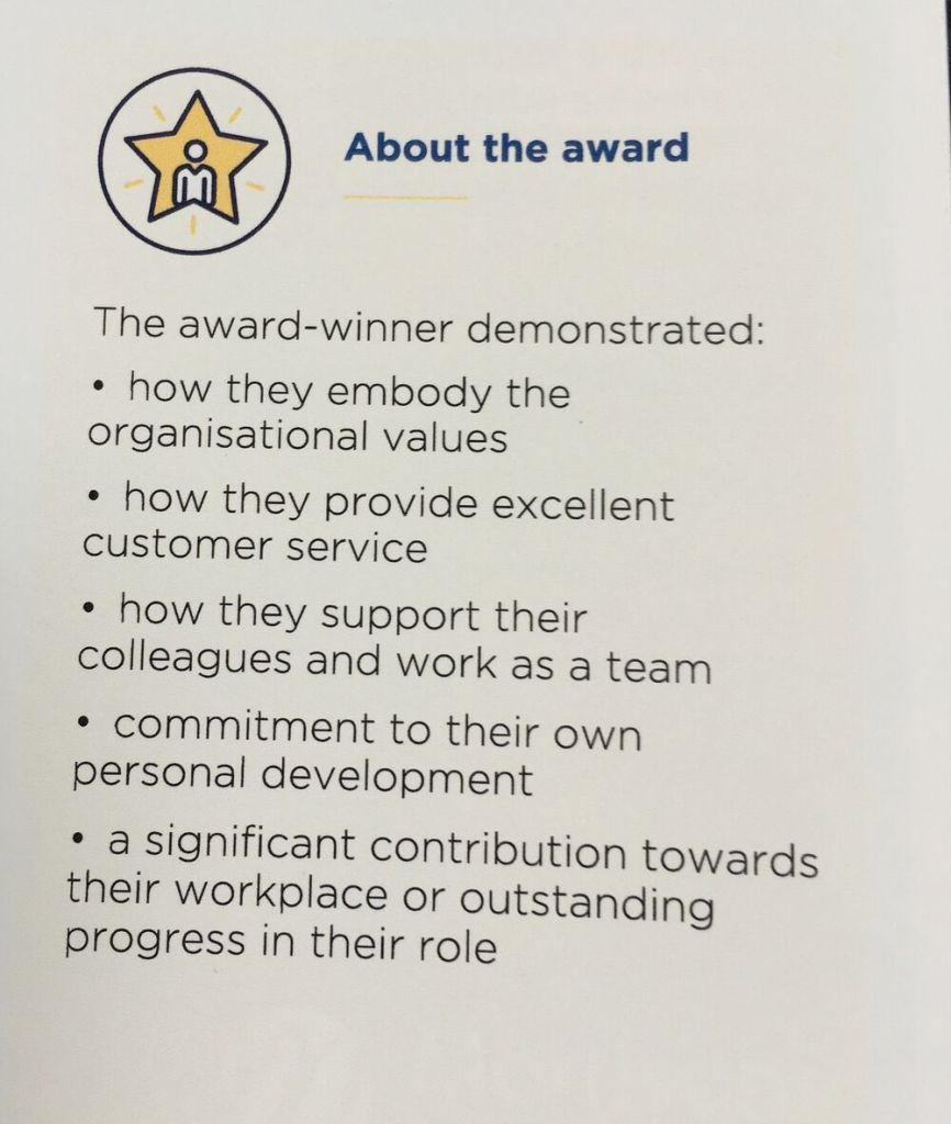 About the award - what the award winner demonstrated.