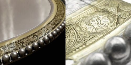 Detalles del plato romano