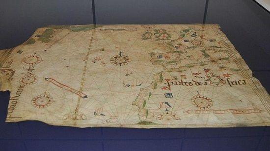 Uno de los mapas que se presenta en la exposición