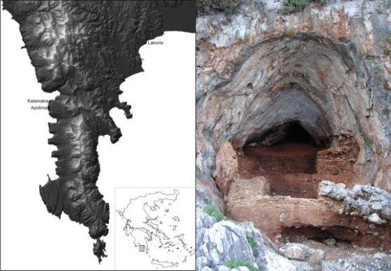 cueva neandertal grecia