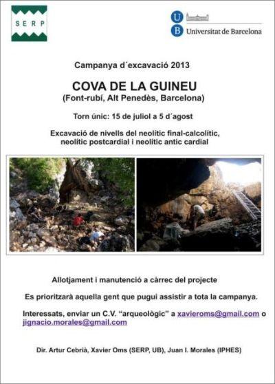 excavacion cova de la guineu