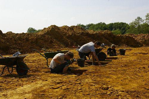 excavaciones ham hill gran bretaña